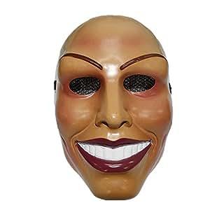 The Rubber Plantation TM 619219292160maschera sorridente Halloween costume donna Fancy Dress (Purge femmina), unisex, taglia unica