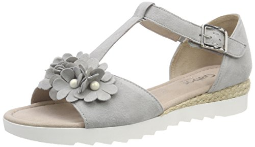 Gabor Shoes Damen Comfort Sport Riemchensandalen, Grau (Light Grey (Jute)), 38 EU