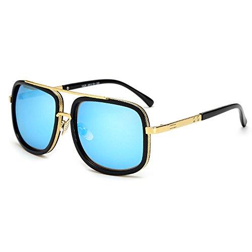 SHEEN KELLY Retro Sonnenbrillen Metall Rahmen Pilot Platz Spiegel Sonnenbrillen herren damen