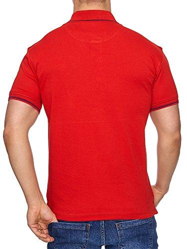 TAZZIO Herren Premium Polo-Shirt Polohemd Poloshirt T-1031 Rot