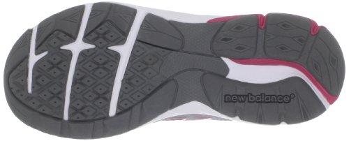 New Balance Kv990Gri Running Kids Suede E Nylon Mash (Grey with Pink & White)