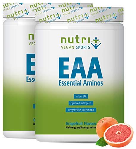 Aminosäure-Pulver Vegan 1000g EAA - HÖCHSTE DOSIERUNG - alle essentiellen Aminos - Grapefruit Geschmack - Instant EAAs Powder - Hergestellt in Deutschland - Essential amino acids
