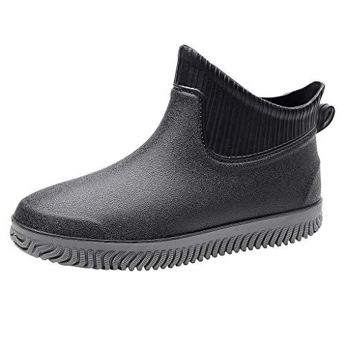 MEIbax Herren rutschfeste wasserdichte Stiefeletten Schuhe Regen Stiefel Angeln Schuhe Winterstiefel Wasserdicht Trekkingschuhe
