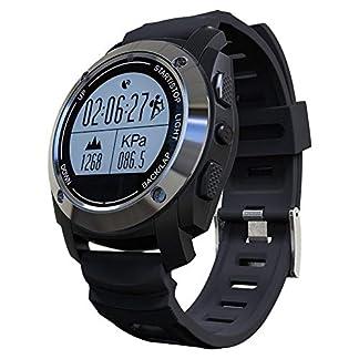 Weimilon Reloj Inteligente GPS Incorporado con Monitor De Frecuencia Cardíaca con Estilo único Reloj Deportivo Digital Resistente Al Agua Rastreador De Ejercicios Deporte Al Aire Libre