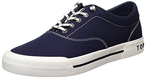 Tommy Hilfiger Herren Y2285ARMOUTH 1D Low-Top, Blau (Tommy Navy 406), 43 EU