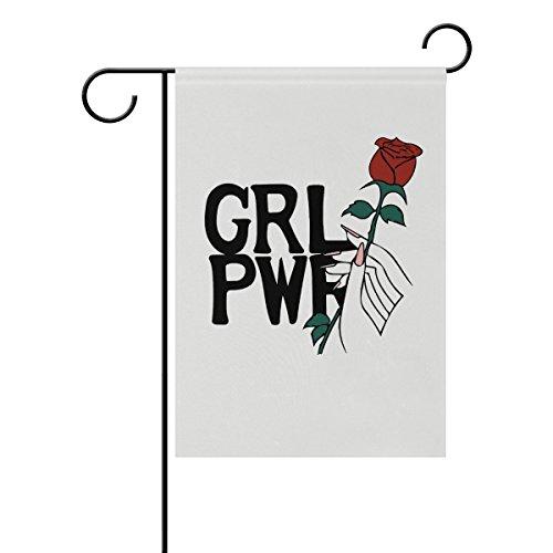 Vinlin Girl Power – Bandera de jardín de doble cara – Bandera decorativa para jardín y hogar, poliéster, 28x40(in)