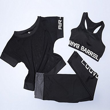 Xiaotiantian Yoga Ensemble de Vêtements/Tenus Respirable / Compression / Confortable Extensible Vêtements de sport Femme-Sportif,Yoga , green , l