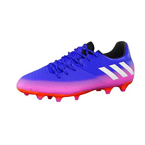 adidas Messi 16.2 Fg, Chaussures de Football Homme Bleu (Blue/ftwr White/solar Orange)