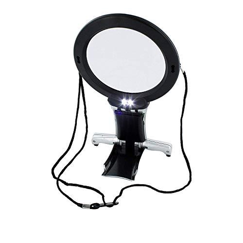 Arsuk ingrandimento lente d'ingrandimento led illuminato per la lettura ricamo gioielli a punto croce hobby art crafts (lente e lente da scrivania)