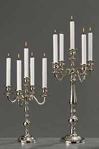 chandeliers VARAS argent 35cm bougeoir porte-bougie argenté candélabre