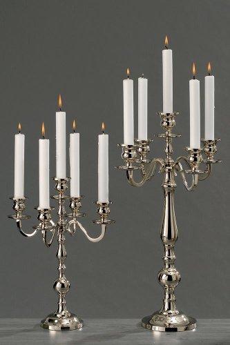 Kerzenleuchter Varas Silber 35cm Kerzenhalter Kerzenständer silberner Kandelaber