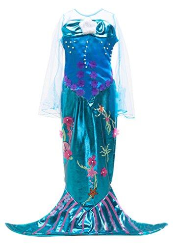 Eyekepper Kleine Maedchen Meerjungfrau Kostuem-Halloween-Kostuem-Kleid (Kleid Kostüm Meerjungfrau)