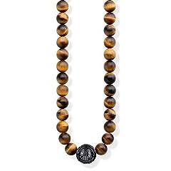 Idea Regalo - Thomas Sabo Donna-Collana Power Necklace Marrone Glam & Soul Argento Sterling 925 KE1673-806-2-L102