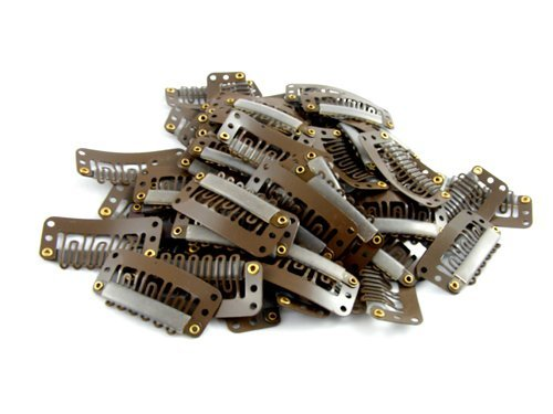 20 pack Brown Weft Clips 32mm fo...