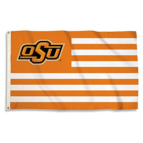 NCAA Oklahoma State Cowboys Flag with Grommets, One Size, Orange/White
