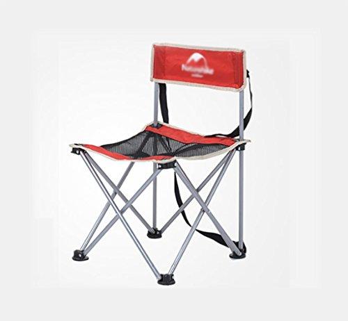 Y HWZDY Camping klappstuhl Camping Stuhl/Outdoor Klappstuhl, Angeln Freizeit Stuhl, Atmungsaktive Feste Portable Beach Chair, (Farbe : Red)