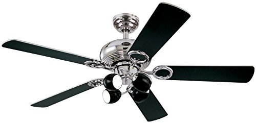 41ZnX4vfCqL - Westinghouse Ceiling Fans 78753 Helix Fusion Four-Light 132 cm Five-Blade Indoor Ceiling Fan, Chrome Finish with Opal Frosted Glass