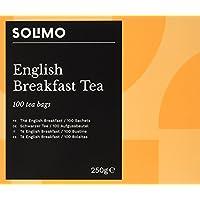 Marca Amazon - Solimo - Bolsitas de té English Breakfast  - Pack de 6 ( 6 x 100 bolsitas)