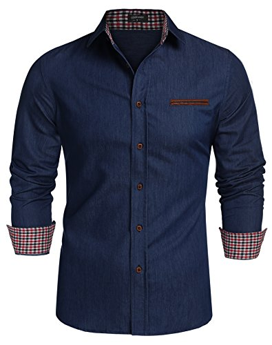 coofandy-mens-casual-dress-shirt-button-down-shirts-size-m
