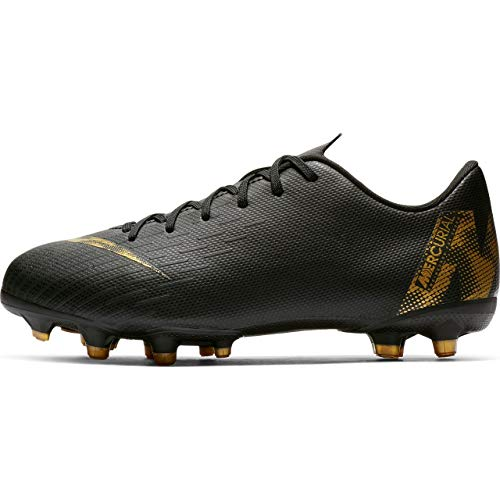 Nike Unisex-Kinder Vapor 12 Academy Gs MG Fußballschuhe, Schwarz (Black/MTLC Vivid Gold 077), 37 EU - Nike Vapor Fußball