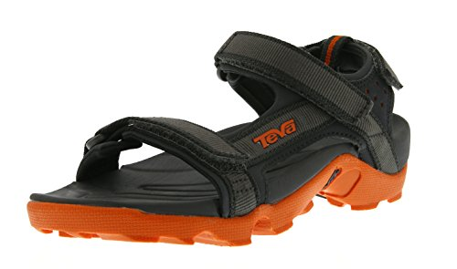 Teva Tanza C's Unisex-Kinder Sport- & Outdoor Sandalen, Grau (grey/orange 519), EU 35