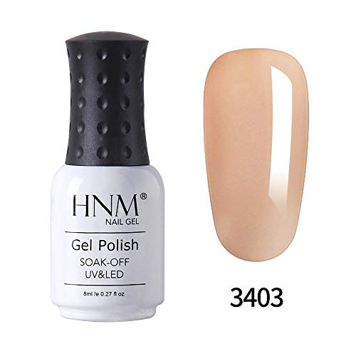 HNM UV LED Soak Off Cristal De Gelée Nude Couleur Gel Vernis À Ongles Vernis Nail Art Manucure Salon 8ML GDJ-NU3403
