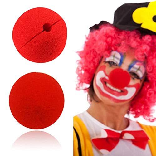Clown-Nase - Schaumstoff - Rot - 2 Stück - Karnevel Fasching Halloween