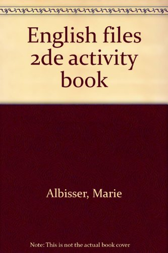 English files, seconde. Activity book