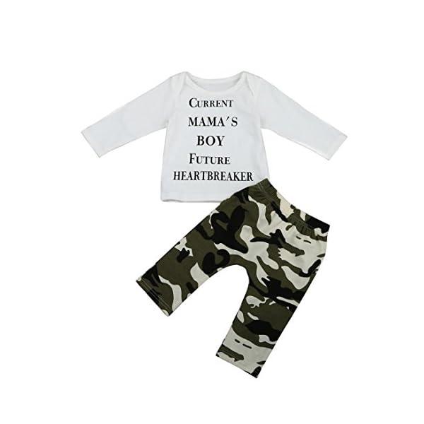 Tama/ño:12-18Mes , Blanco camuflaje pantalones conjunto 0-24 Mes Ropa beb/é Amlaiworld Oto/ño invierno beb/é ni/ño reci/én nacidos ropa camiseta Tops 90