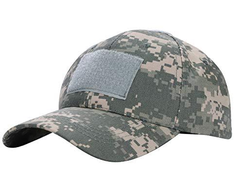 IBLUELOVER Camo Baseball Cap Sonnenhut Schirmmütze Distressed Snapback Hat Verstellbare Visier Wear Cap Sommer Strand Hut für Laufen Jagd Angeln Reisen ACU -