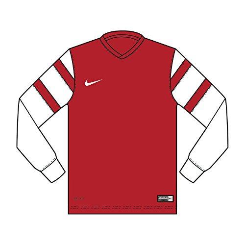 Nike Long Sleeve Top Trophy II YTH Jersey, Unisex, Long Sleeve Top Trophy II Yth Jersey, Rosso University/Bianco, M