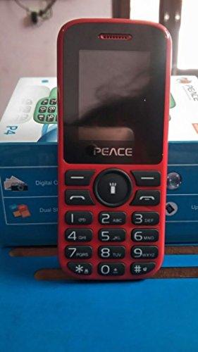 Peace P4 Red+Black Dual Sim Mobile Phone
