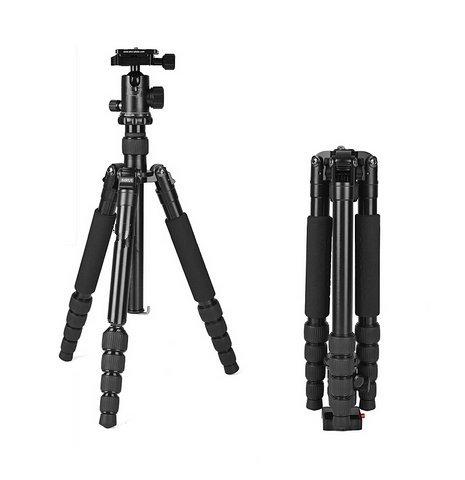 Gowe Professional Tragbare Kamera Stativ G10Ball head5mit Stativtasche Max Belastbarkeit 12kg für Canon Nikon Sony DSLR
