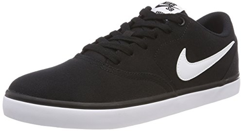 Nike Herren SB Check Solarsoft Canvas Skateboardschuhe, Schwarz (Black/White 001), 44 EU -
