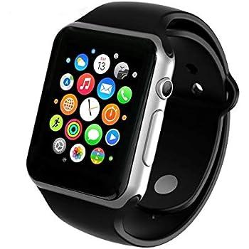 PRIXTON SW15 - Smartwatch, Reloj Inteligente con Ranura para SIM y Micro SD, Negro