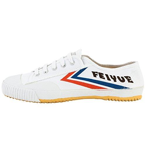 wu designs Feiyue Sneaker - Kampfkunst Sport Parkour Wushu Schuhe Weiss 36