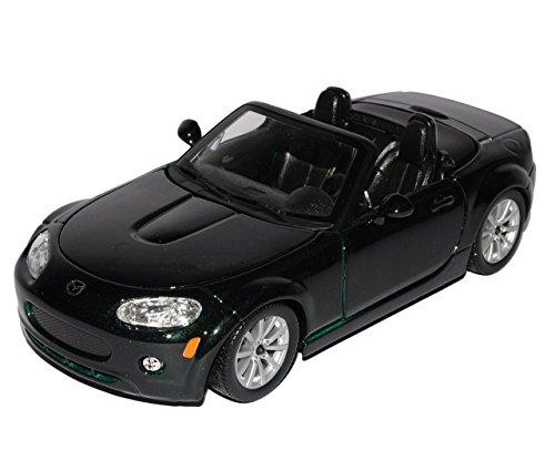 mazda-mx5-mx-5-nc-grun-schwarz-3-generation-1-24-bburago-burago-modellauto-modell-auto
