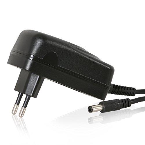 Wicked Chili 2500mA DC Hohlstecker Netzteil 5,5mm / 2,5mm Universal zB für Bose SoundLink Mini, Kraftmax BC-4000 Pro Akku Ladegerät (12V DC / 100-240V / max. 2.5A / Länge: 180 cm) schwarz