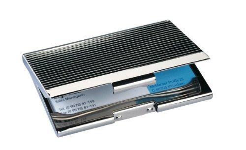Sigel VZ130 Visitenkarten-Etui, silber glänzend, Chrom, für 20 Karten - weitere Modelle