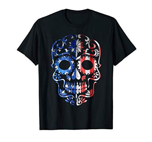 USA Tag der Toten T-Shirt Sugar Skull Dia de los Muertos