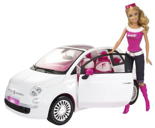 Barbie - Y su Fiat 500 (Mattel R1623)