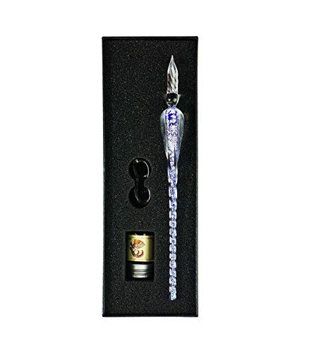 Pennino in vetro–Set calligrafia penna firma penna scrittura , migliori regali di Natale regali aziendali Holiday Gift blue