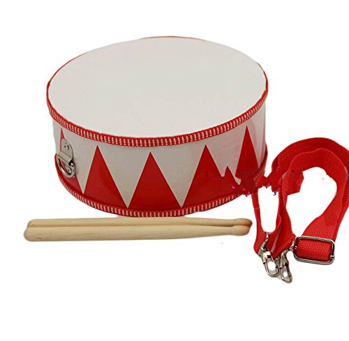 Much Fan Aufklärungs-Spielzeug-Wimpel-Musik-Trommel-Stoßinstrument (rot und weiß)
