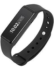 Technaxx Fitness Armband Touch TX-72, Activity Tracker, Schrittzähler, Smartband Fitnessarmband, Aktivitätstracker, Schwarz, M/L