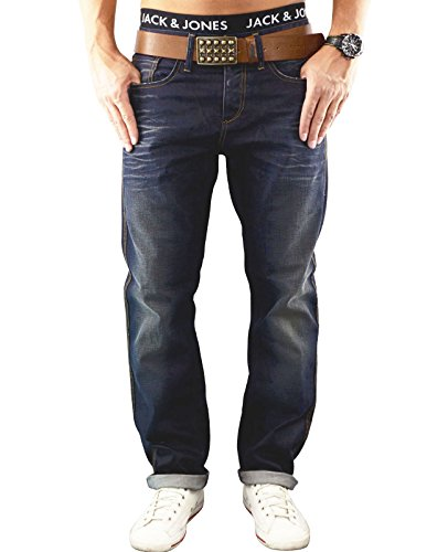 JACK & JONES Herren Jeans jjBOXY 306 Hose Loose Fit Relaxed Blue Denim (32W /32 L, Dunkelblau (Medium Blue Denim Fit:LOOSE)) (Relaxed Denim Fit)