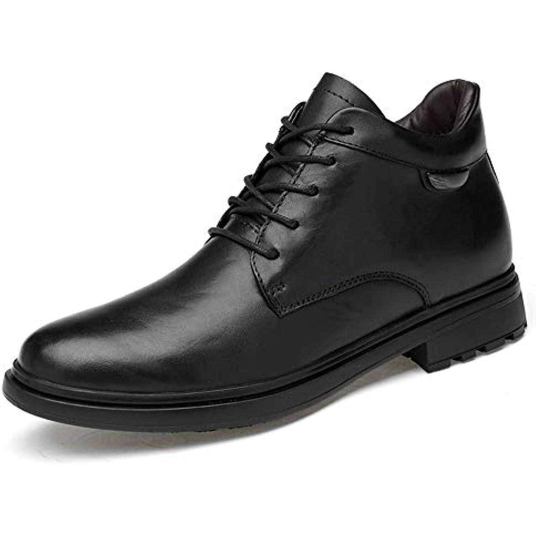 2018 nouvelles bottes à venir, venir, venir, Bottines pour hommes, chaussures haut de gamme en cuir à bout rond en cuir haut... - B07H9Z4YBF - dc39ce