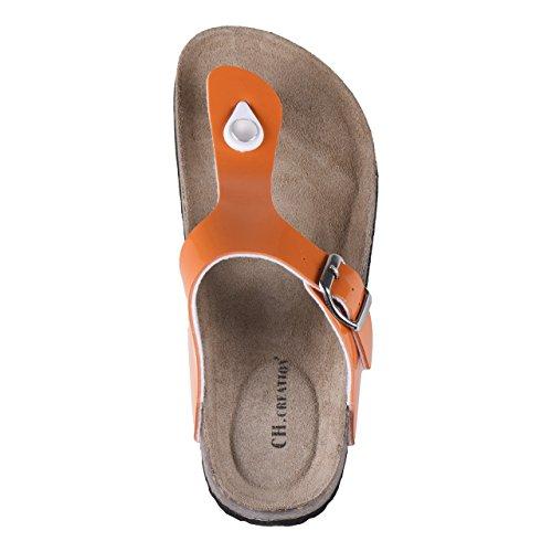 Da donna comfort dita dei piedi bella in 4Designs Orange