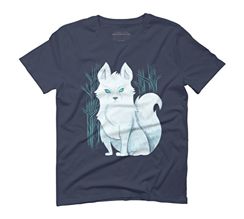White wolf Men's Graphic T-Shirt - Design By Humans Navy