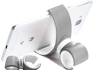 Access+® Porta Cellulare Multifunzione Con Rotazione a 360 ° / supporto per auto d'aria-vent / supporto manubrio smartphone compatibile con iPhone 6 / 6 plus / 5 / 5S / 5C / 4 / 4S, Samsung Galaxy S6 / S5 / S4 / Note 4/3, Google Nexus, LG G3 /Xiaomi /Oneplus ONE e qualsiasi altro smartphone/ Telefoni Cellulari o dispositivo GPS Tomtom Gamin…-Grigio