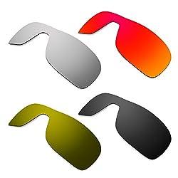 Hkuco Mens Replacement Lenses For Oakley Turbine Rotor Redblacktitaniumbronze Sunglasses